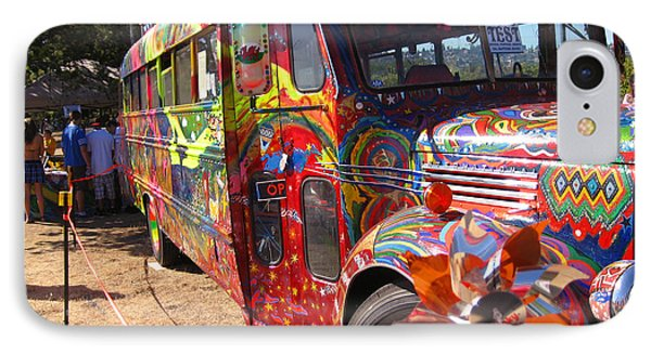 Kool Aid Acid Test Bus IPhone Case by Kym Backland