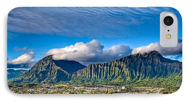 IPhone Case featuring the photograph Koolau And Pali Lookout From Kanohe by Dan McManus