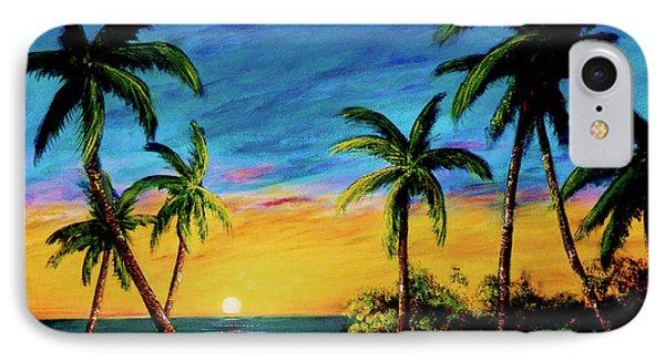 Ko'olina Sunset On The West Side Of Oahu Hawaii #299 Phone Case by Donald k Hall