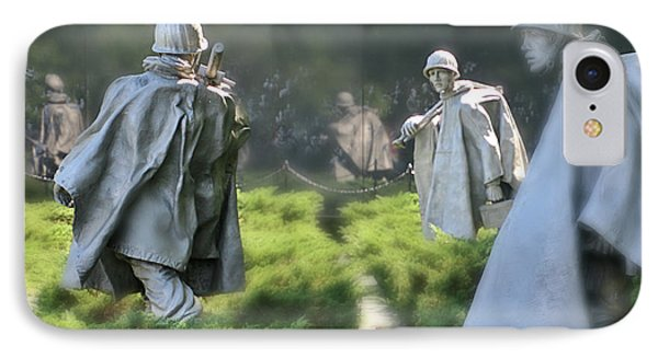 IPhone Case featuring the photograph Korean Memorial by Lorella Schoales