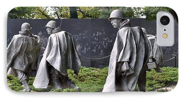 Korean War Memorial 3 IPhone Case by Teresa Blanton