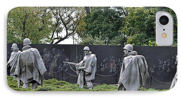 Korean War Memorial 4 Phone Case by Teresa Blanton