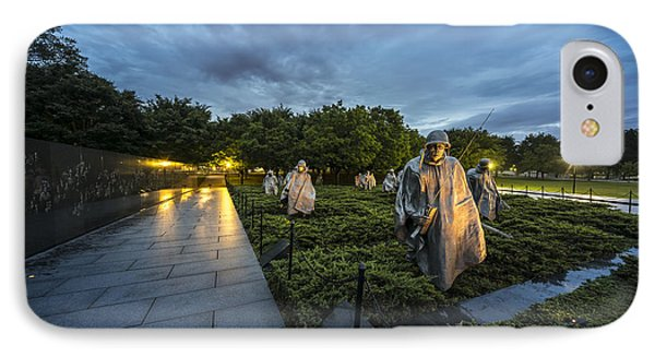 IPhone Case featuring the photograph Korean War Memorial by David Morefield