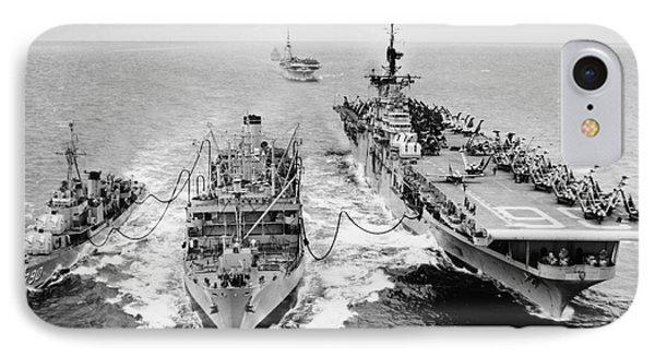 Korean War: Ship Refueling Phone Case by Granger