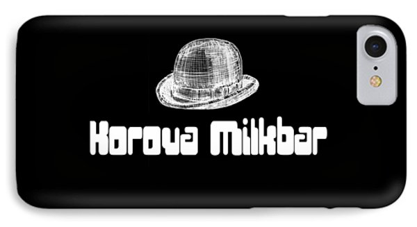 Korova Milkbar A Clockwork Orange Tee IPhone Case by Edward Fielding