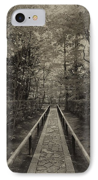 Koto-in Zen Temple Forest Path - Kyoto Japan Phone Case by Daniel Hagerman