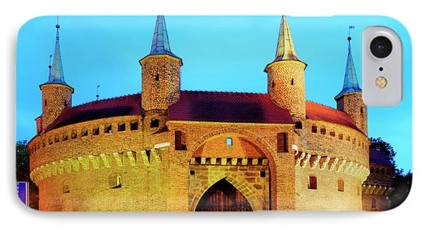 IPhone Case featuring the photograph Krakow Barbican by Fabrizio Troiani