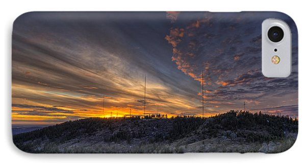 Mountain Sunset iPhone 7 Case - Krell Hill Sunset by Mark Kiver