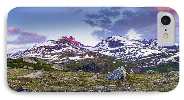 IPhone Case featuring the photograph Crimson Peaks by Dmytro Korol