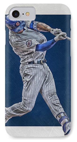 Kris Bryant Chicago Cubs Art 4 IPhone Case by Joe Hamilton