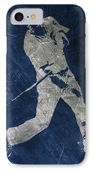 Kris Bryant Chicago Cubs Art IPhone Case by Joe Hamilton