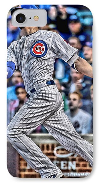 Kris Bryant Chicago Cubs IPhone 7 Case by Joe Hamilton