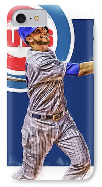 Kris Bryant Chicago Cubs Oil Art IPhone Case