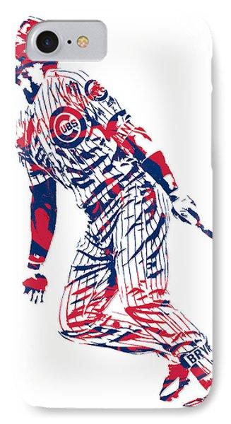 Kris Bryant Chicago Cubs Pixel Art 12 IPhone Case
