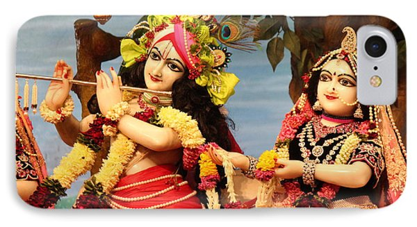 Krishna And Radha At Radha Gopinath Mandir, Mumbai IPhone Case