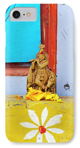 Krishna Blessings IPhone Case by Tim Gainey