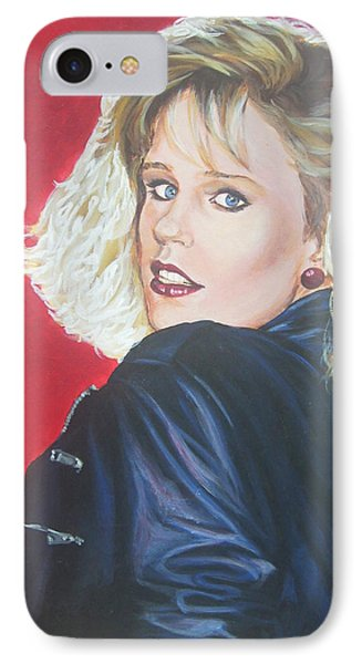 IPhone Case featuring the painting Kristi Sommers by Bryan Bustard
