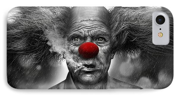 Krusty The Clown IPhone Case by Alex Ruiz
