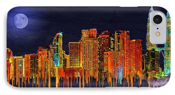 Kuala Lumpur IPhone Case by Edelberto Cabrera