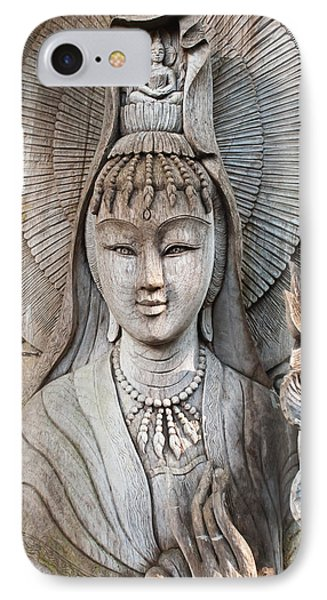 Kuan Yin  Phone Case by Apatsara Sirirodchanapanya