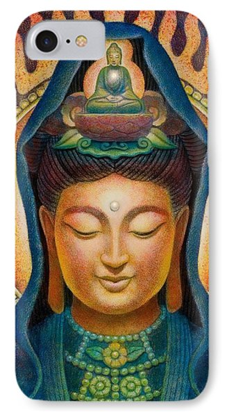 Kuan Yin Flame Phone Case by Sue Halstenberg