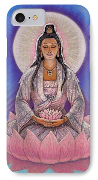 Kuan Yin Phone Case by Sue Halstenberg