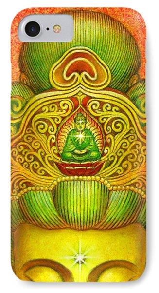 Kuan Yin's Buddha Crown Phone Case by Sue Halstenberg