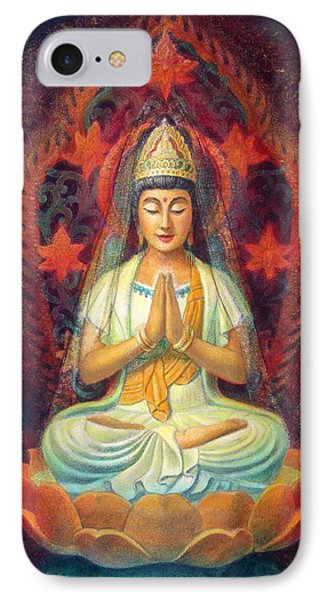 Kuan Yin's Prayer Phone Case by Sue Halstenberg