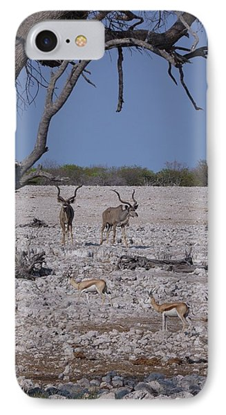 IPhone Case featuring the photograph Kudu And Springbok 2 by Ernie Echols