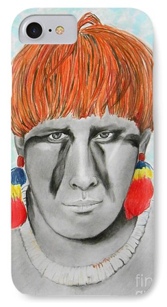 Kuikuro From Brazil -- Portrait Of South American Tribal Man IPhone Case