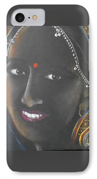 Kumkuma -- Close-up Portrait Of Indian Woman IPhone Case