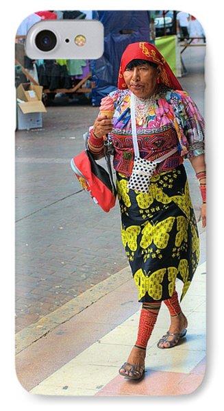 Kuna Woman Shopping IPhone Case by Douglas Pike