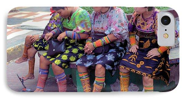 Kuna Women Resting Feet IPhone Case by Douglas Pike