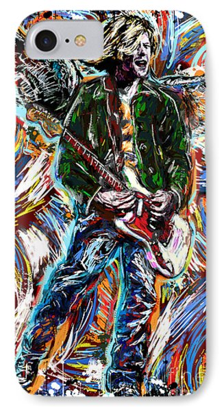 Kurt Cobain Art  IPhone Case by Ryan Rock Artist