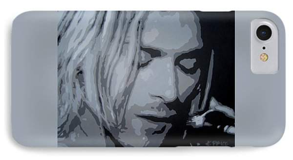 IPhone Case featuring the painting Kurt Cobain by Ashley Price