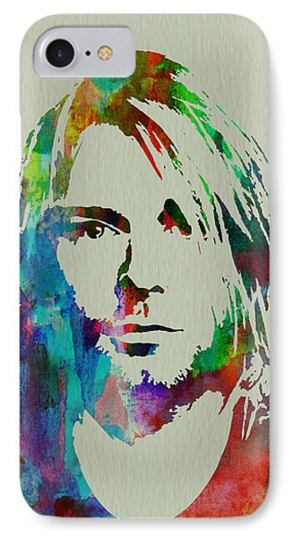 Musicians iPhone 7 Case - Kurt Cobain Nirvana by Naxart Studio
