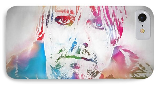 Kurt Cobain Watercolor IPhone Case by Dan Sproul
