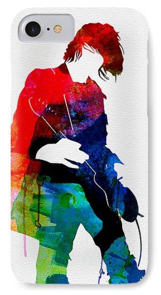 Kurt Watercolor IPhone Case by Naxart Studio