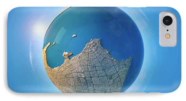 Kuwait City 3d Little Planet 360-degree Sphere Panorama IPhone Case