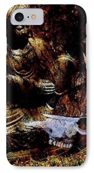 Kwan Yin Meditates IPhone Case by Ann Tracy