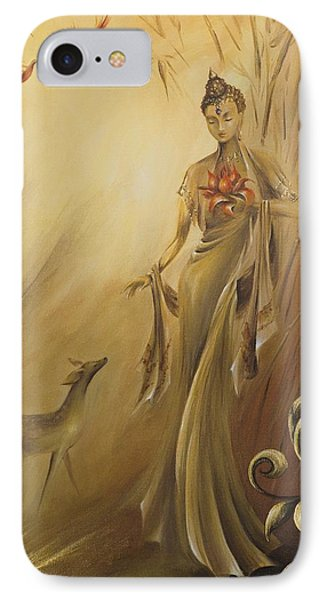 IPhone Case featuring the painting Kwan Yins Garden by Dina Dargo