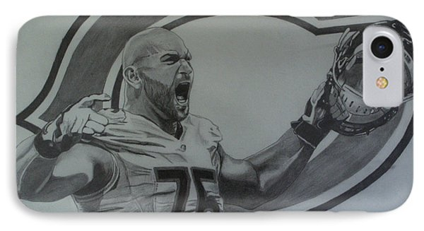 IPhone Case featuring the drawing Kyle Long Portrait by Melissa Goodrich