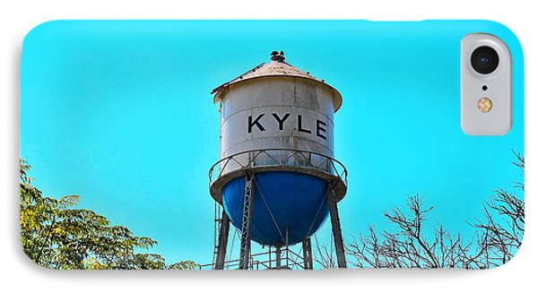 Kyle Texas Water Tower IPhone Case by Ray Shrewsberry
