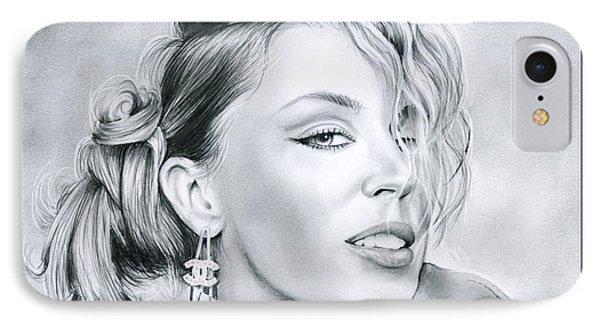 Kylie Minogue IPhone Case by Greg Joens
