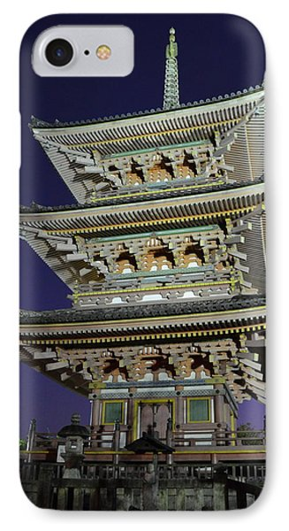 Kyoto Shrine At Night IPhone Case by Corinne Rhode