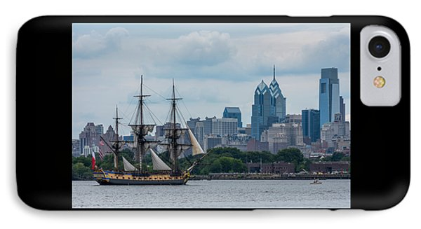 L Hermione Philadelphia Skyline IPhone Case by Terry DeLuco