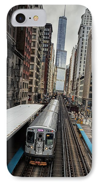 L Train Station In Chicago IPhone Case by James Udall