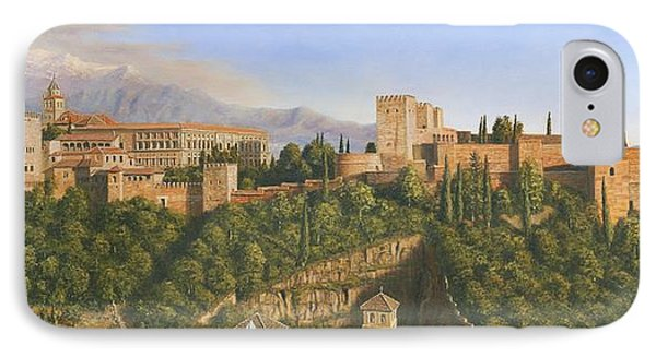 La Alhambra Granada Spain IPhone Case by Richard Harpum