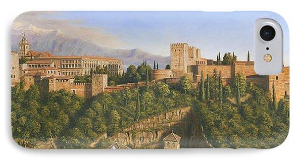 La Alhambra Granada Spain Phone Case by Richard Harpum