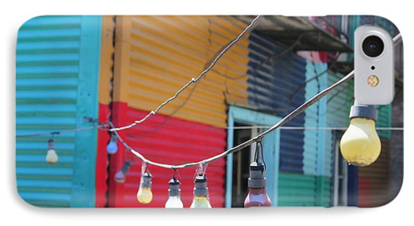 La Boca Lightbulbs IPhone Case by Wilko Van de Kamp